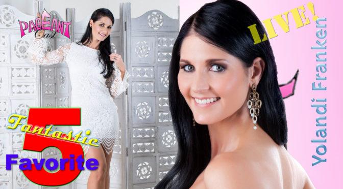 Yolandi Franken, Miss Multiverse Australia 2016: Fantastic Favorite Five