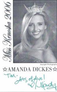 Amanda Dickes, Miss Kenosha 2006