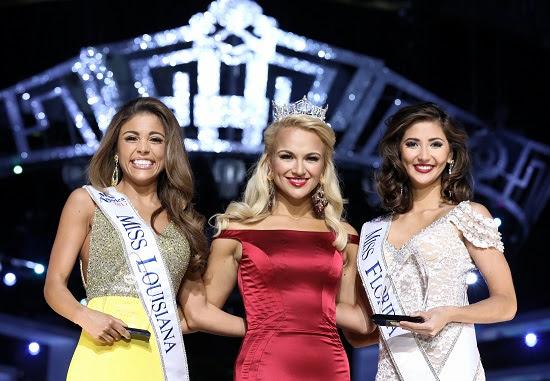 From Left: Miss Louisiana Laryssa Bonacquisti, Miss America 2017 Savvy Shields, and Miss Florida Sara Zeng (Photo: The Miss America Organization/Bruce V. Boyajian)