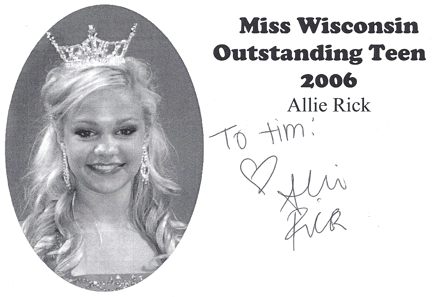 Allie Rick, Miss Wisconsin Outstanding Teen 2006