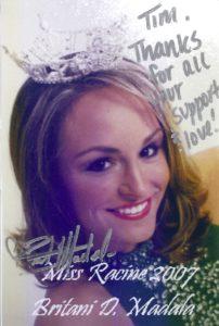 Britani Madala, Miss Racine 2007
