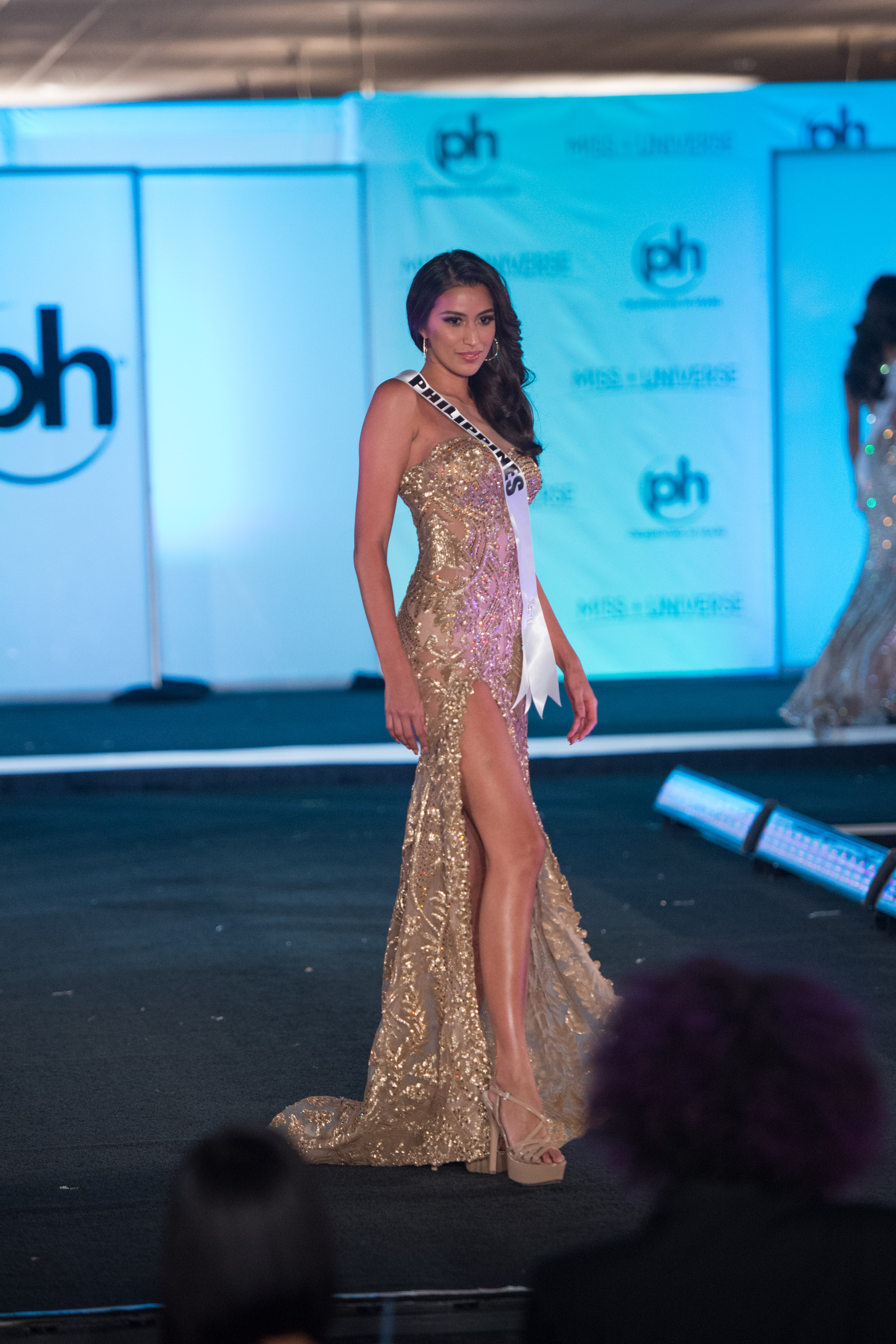 Rachel Peters, Miss Philippines 2017 competes on stage in her evening gown during the MISS UNIVERSE® Preliminary Competition at Planet Hollywood Resort & Casino in Las Vegas on November 20, 2017. The contestants have spent the last week touring, filming, rehearsing and preparing to compete for the Miss Universe crown in Las Vegas, NV. Tune in to the FOX telecast at 7:00 PM ET live/PT tape-delayed on Sunday, November 26, live from the AXIS at Planet Hollywood Resort & Casino in Las Vegas to see who will become the next Miss Universe. HO/The Miss Universe Organization